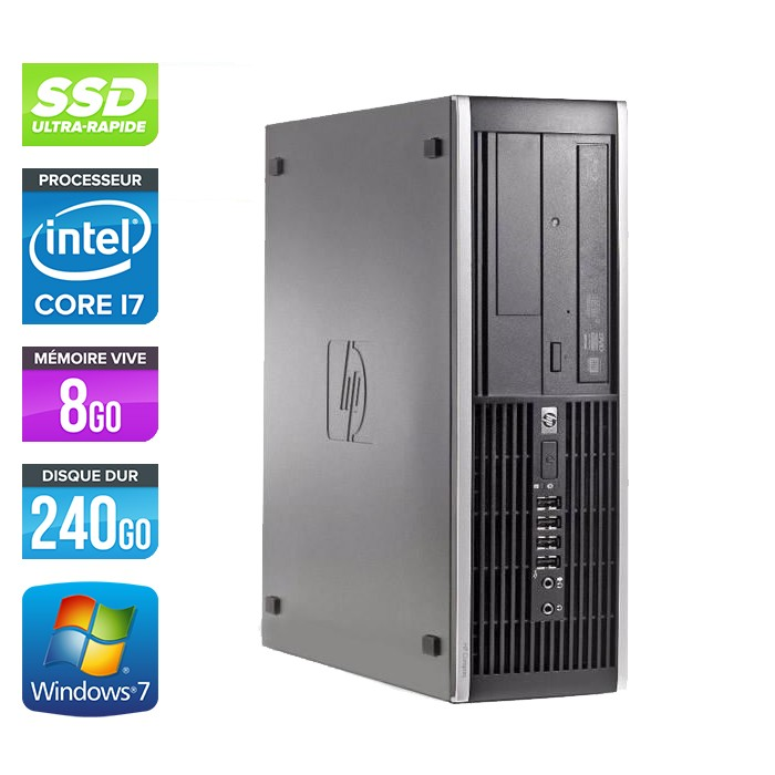 HP Elite 8200 SFF - Core i7 - 8Go - 240Go SSD