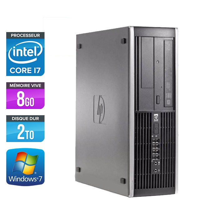 HP Elite 8200 SFF - Core i7 - 8Go - 2To