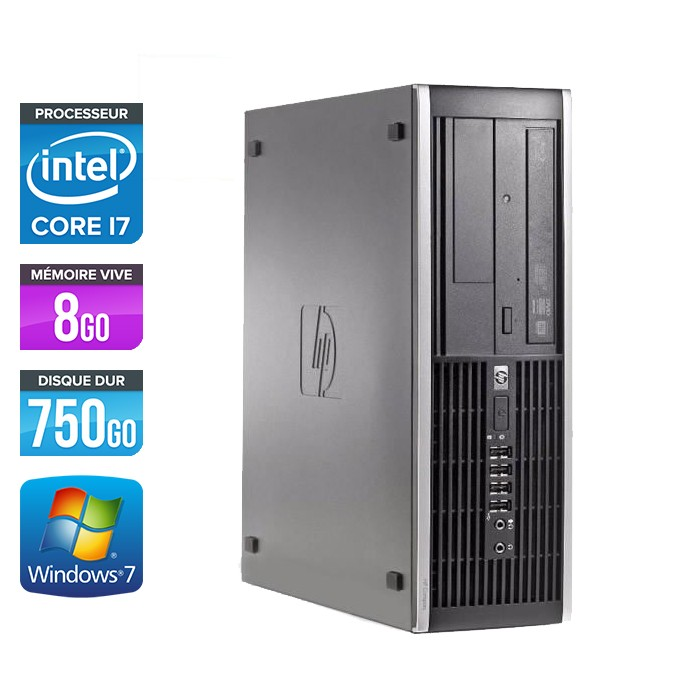 HP Elite 8200 SFF - Core i7 - 8Go - 750Go
