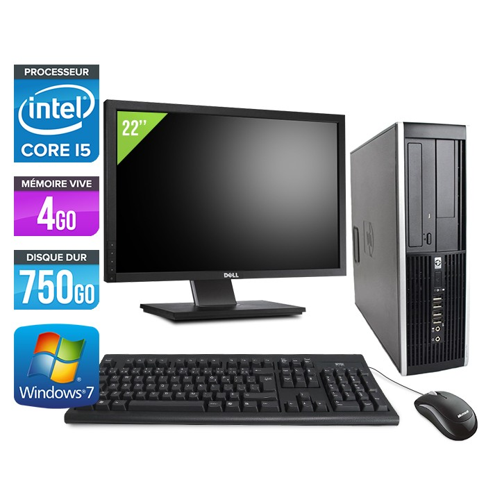 "HP Elite 8300 SFF - Core i5 - 4Go - 750Go + Ecran 22"""