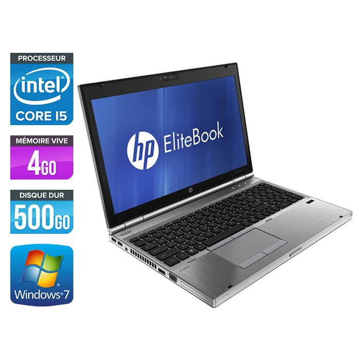 HP EliteBook 8560P - Core i5 - 4Go - 500Go