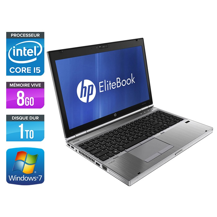 HP EliteBook 8560P - Core i5 - 8Go - 1To