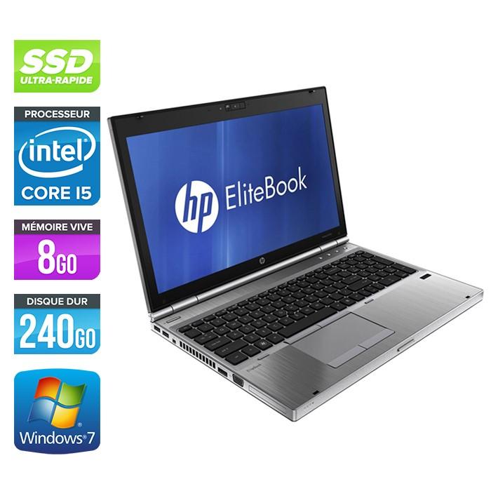 HP EliteBook 8560P - Core i5 - 8Go - 240Go SSD