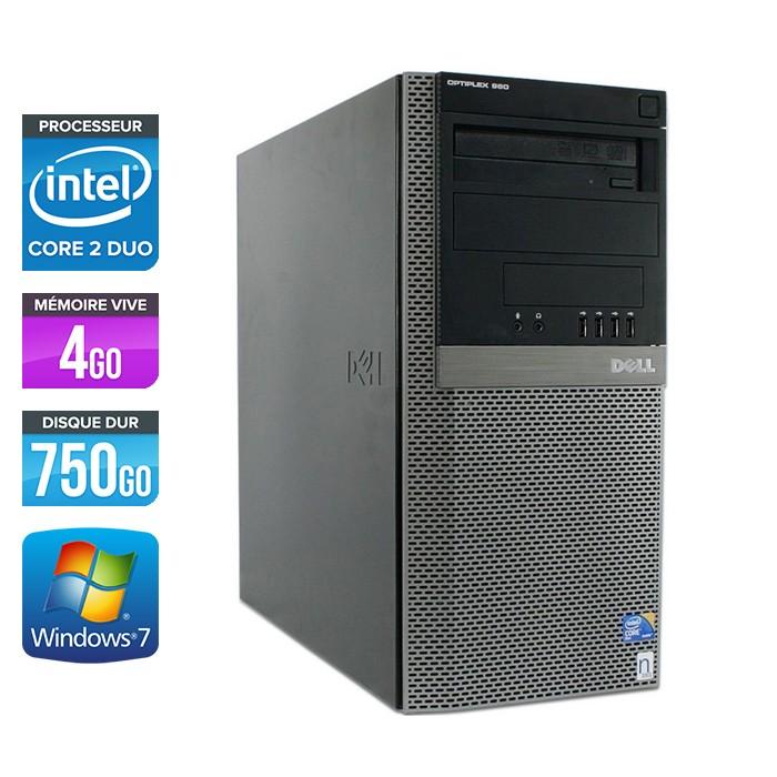 Dell Optiplex 960 Tour - E8500 - 4Go - 750Go