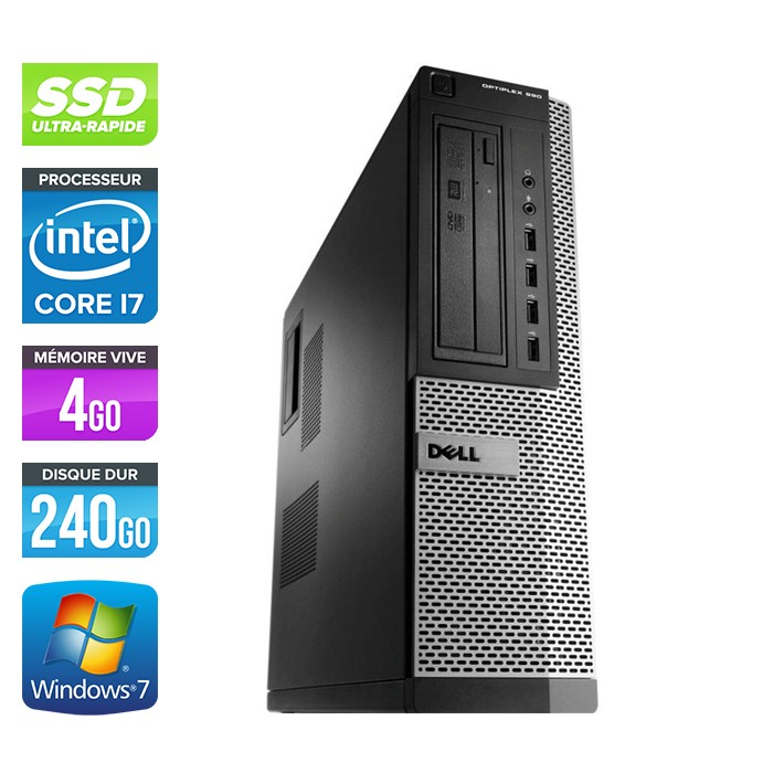 Dell Optiplex 990 - Core i7 - 4Go - 240Go SSD