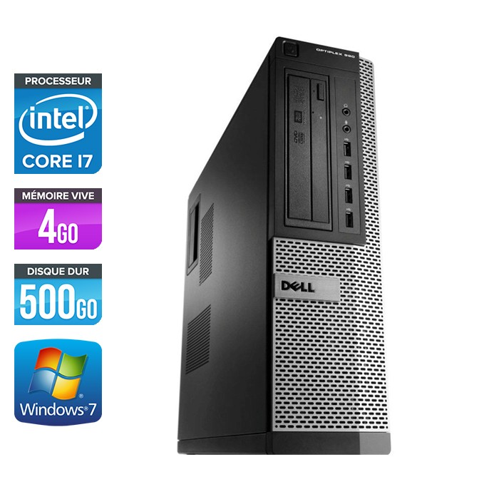 Dell Optiplex 990 - Core i7 - 4Go - 500Go