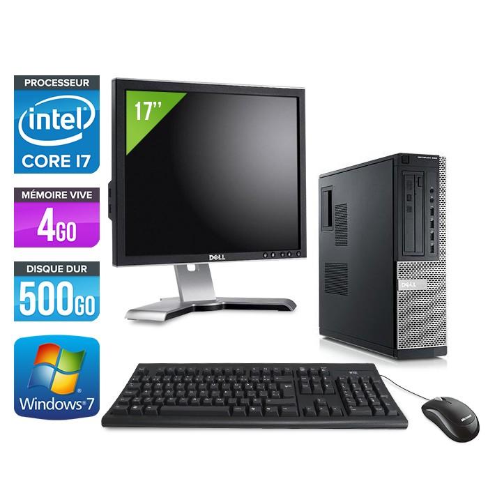 Dell Optiplex 990 + Ecran 17'' - Core i7 - 4Go - 500Go