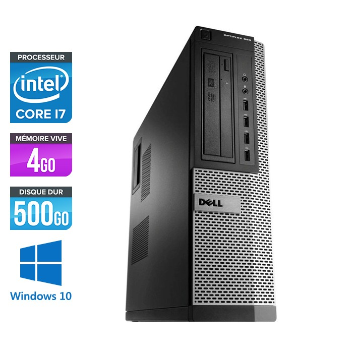 Dell Optiplex 990 - Core i7 - 4Go - 500Go - Windows 10