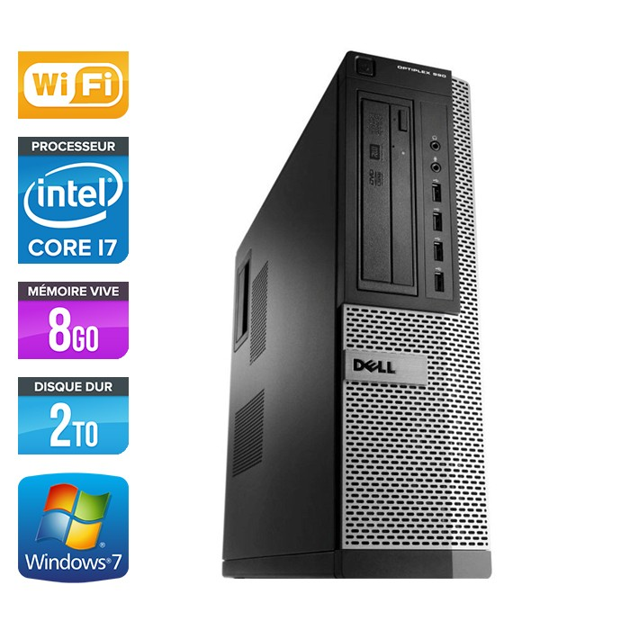 Dell Optiplex 990 - Core i7 - 8Go - 2To - Wifi