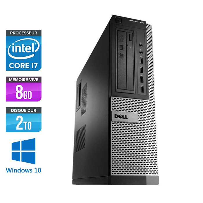 Dell Optiplex 990 - Core i7 - 8Go - 2To - Windows 10