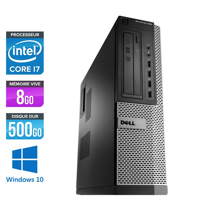 Dell Optiplex 990 - Core i7 - 8Go - 500Go - Windows 10