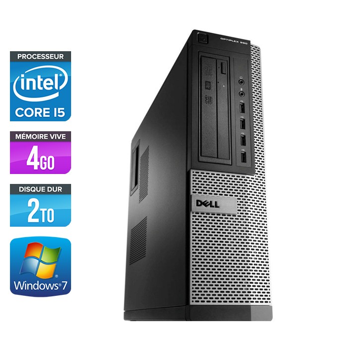 Dell Optiplex 990 Desktop - Core i5 - 4Go - 2To