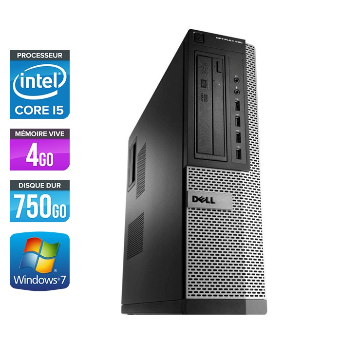 Dell Optiplex 990 Desktop - Core i5 - 4Go - 750Go