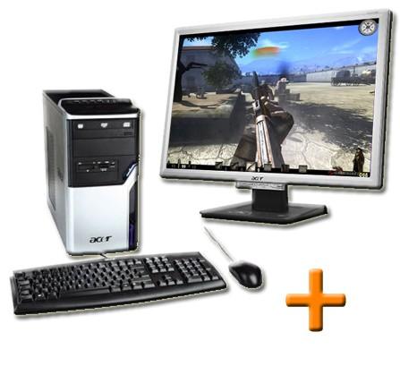 Ordinateur reconditionné Acer Aspire M3100 + Ecran Acer AL2216W 22 pouces