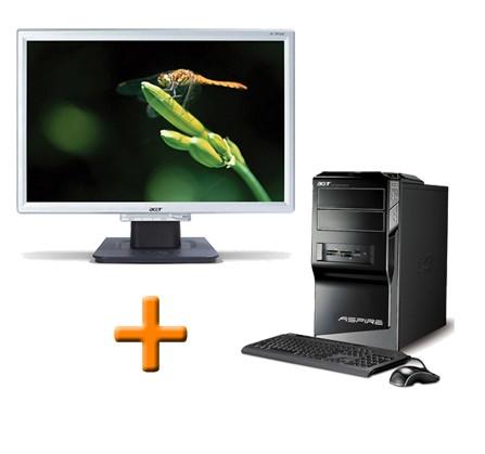 Ordinateur reconditionné Acer Aspire M5641 + Ecran Acer AL1916W 19 pouces
