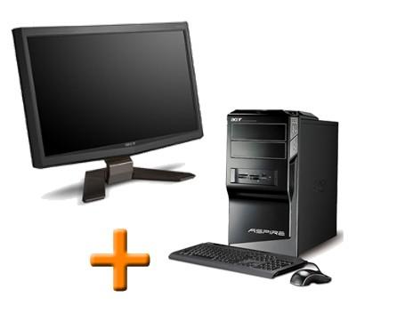 Ordinateur reconditionné Acer Aspire M5641 + Ecran Acer AL1916CS 19 pouces