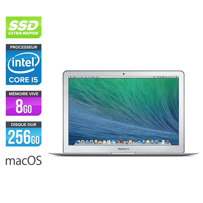 Apple MacBook Air 13.3 - i5 - 8Go - 256Go SSD - MacOs