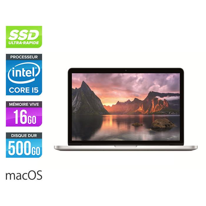 Apple MacBook Pro 13 - 2015 - i5 - 16go - 500Go SSD