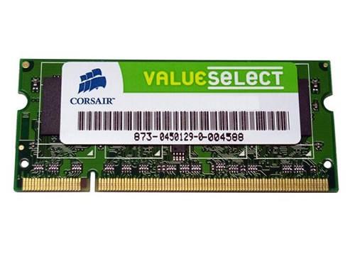 Mémoire portable CORSAIR SO-DIMM DDR2 PC2-4200 - 1 Go 533 MHz