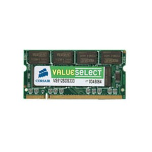 Barrette mémoire CORSAIR SO-DIMM DDR PC-2700 - 1 Go 333 MHz
