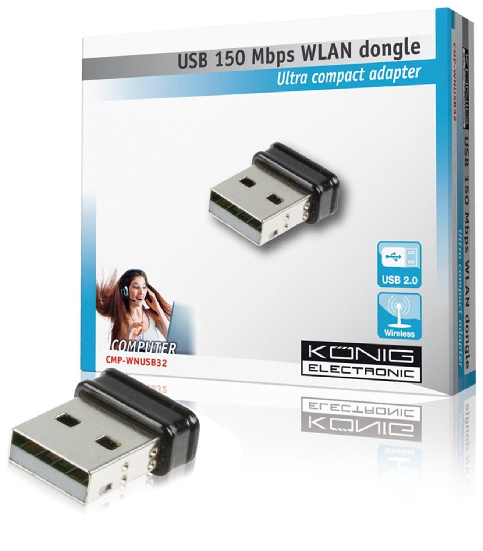Clé USB Wifi  König Electronic CMP-WNUSB32 - Nano Adaptateur - 150 Mbps