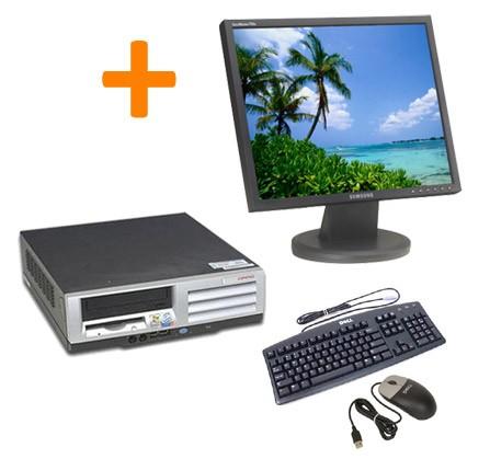 "HP Compaq Evo D51s SFF + Ecran TFT 17"" + Clavier + Souris"