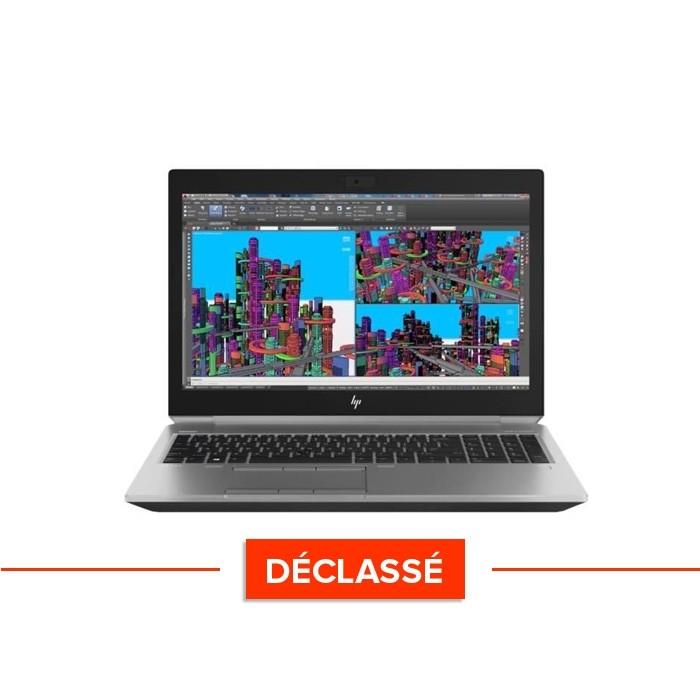 HP zbook 15 reconditionné - i7 - 16Go de RAM - 500Go SSD - déclassé