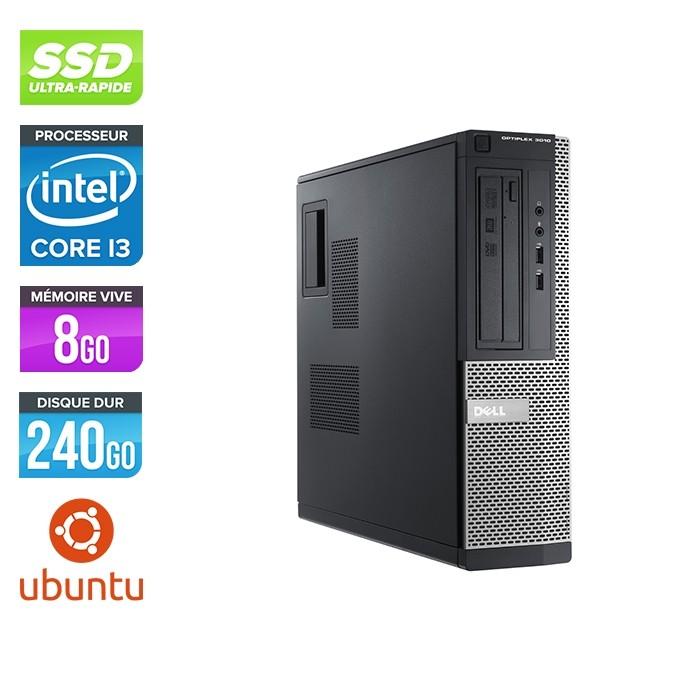 Pc de bureau reconditionné - Dell Optiplex 3010 DT - i3 - 8Go - 240Go SSD - Linux