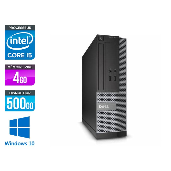 Dell Optiplex 3010 SFF - Core i5 - 4Go - 500Go - Windows 10 pro