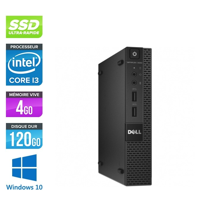 Dell 3020 Micro - Intel Core i3 - 4Go - 120Go SSD - W10