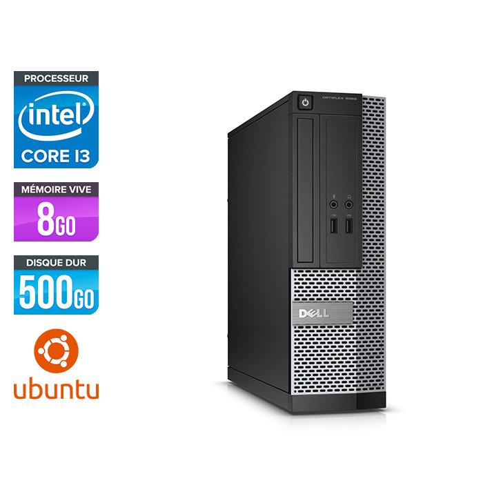 Pc de bureau reconditionné Dell Optiplex 3020 SFF - Core i3 - 8Go - 500Go - Linux