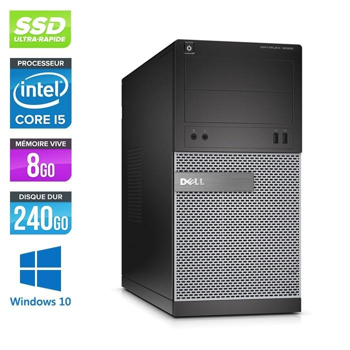 Dell Optiplex 3020 Tour - i5 - 8Go - 240Go SSD - Windows 10