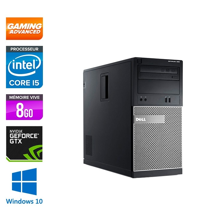 pc occasion dell optiplex 390 tour gamer i5 8go 500go hdd gtx 1050 windows 10 trade. Black Bedroom Furniture Sets. Home Design Ideas