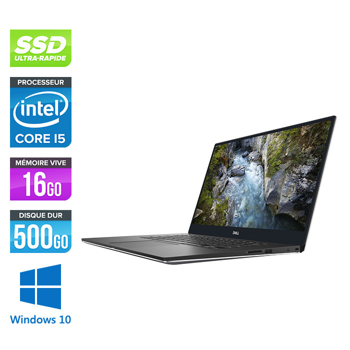 Workstation reconditionnée - Dell Precision 5530 - i7 - 16Go - 500Go SSD - Windows 10