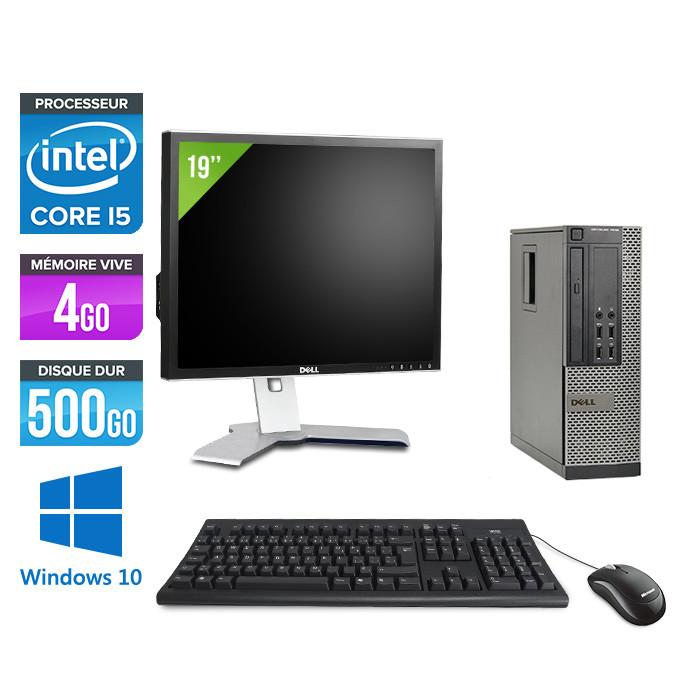 Dell Optiplex 7010 SFF + Ecran 19'' - i5 - 4Go - 500Go - Windows 10