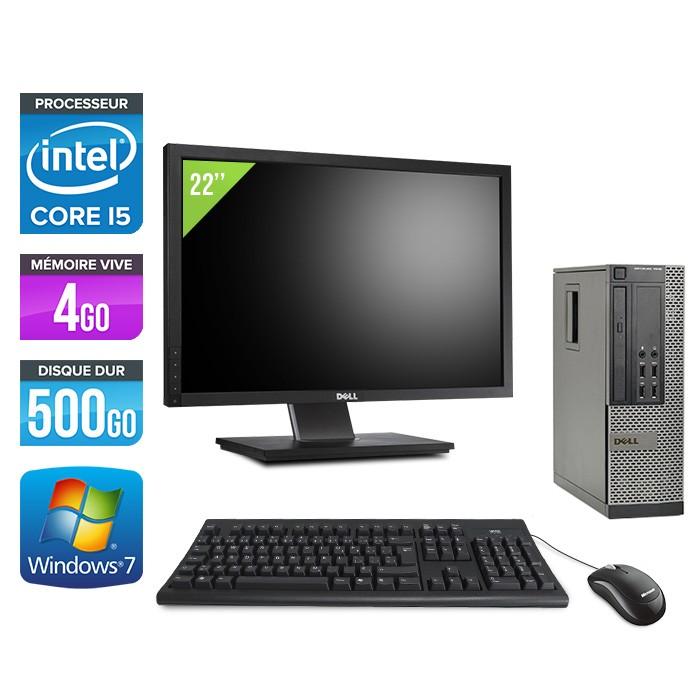 Dell Optiplex 7010 SFF + Ecran 22'' - i5 - 4Go - 500Go - Windows 7