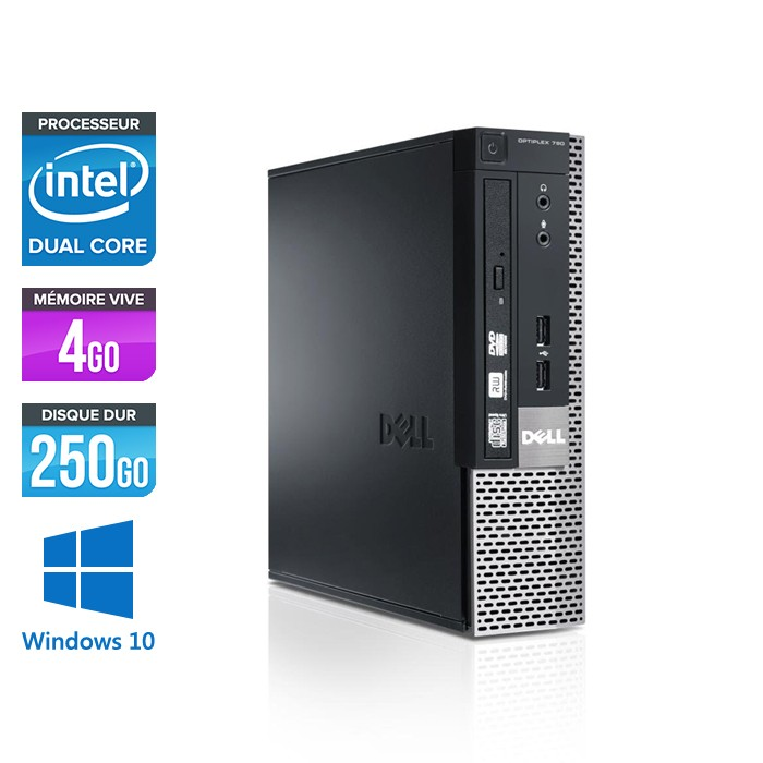 Dell Optiplex 790 USFF - G630 - 4Go - 250Go - Windows 10