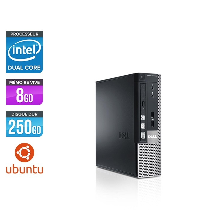 Dell Optiplex 790 USFF - G620 - 8Go - 250Go HDWindows 10