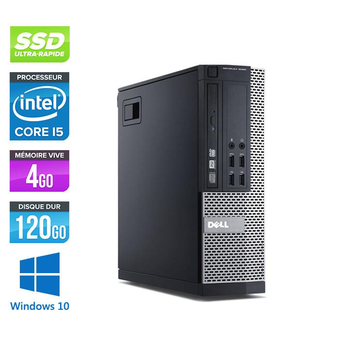 Pc bureau reconditionné - Dell Optiplex 9010 SFF - i5 - 4Go - 120Go SSD - W10