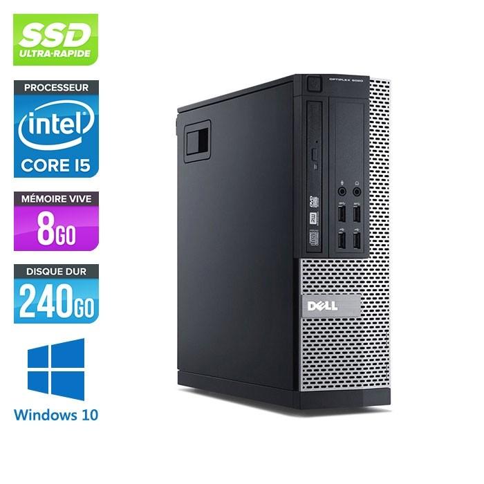 Dell Optiplex 9020 SFF - i5 - 8 Go - 240Go SSD - DVDRW - Windows 10 Professionnel