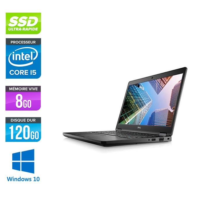 Pc portable - Dell Latitude 5490 reconditionné - i5 7300U - 8Go DDR4 - 120Go SSD - Windows 10