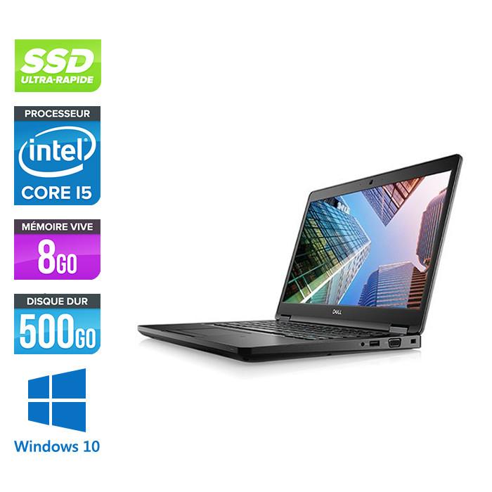 Pc portable - Dell Latitude 5490 reconditionné - i5 7300U - 8Go DDR4 - 500Go SSD - Windows 10
