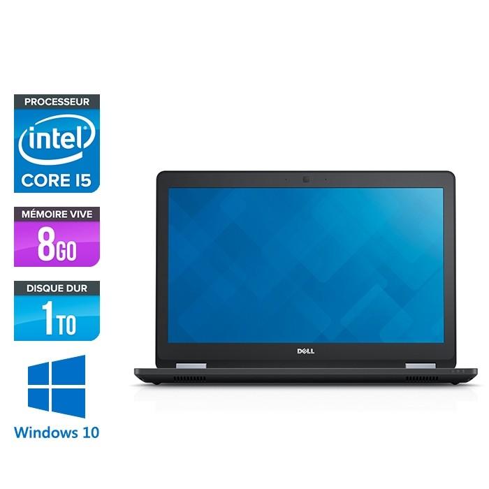 Pc portable reconditionné - Dell latitude E5570 - i5 - 8 Go - 1 To HDD - Webcam - Windows 10