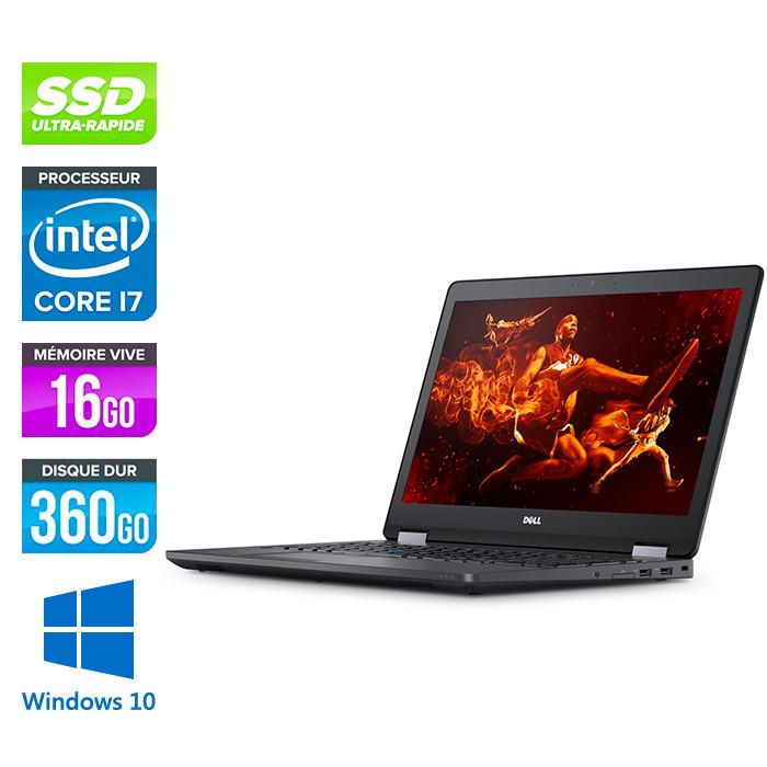 Pc portable reconditionné - Dell latitude E5570 - i7 - 16Go - 360Go SSD - Webcam - Windows 10