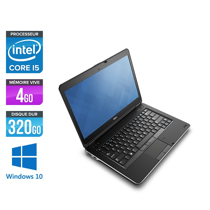 Ordinateur portable reconditionné - Dell Latitude E6440 - i5 - 4Go - 320Go HDD - Webcam - Windows 10