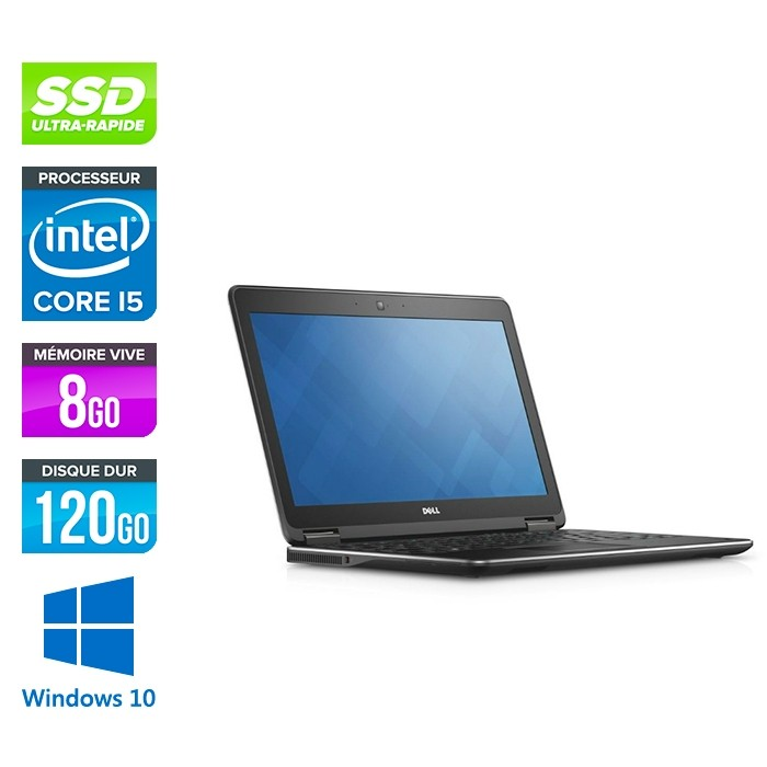 Dell Latitude E7250 - i5 - 8Go - 120Go SSD - Windows 10