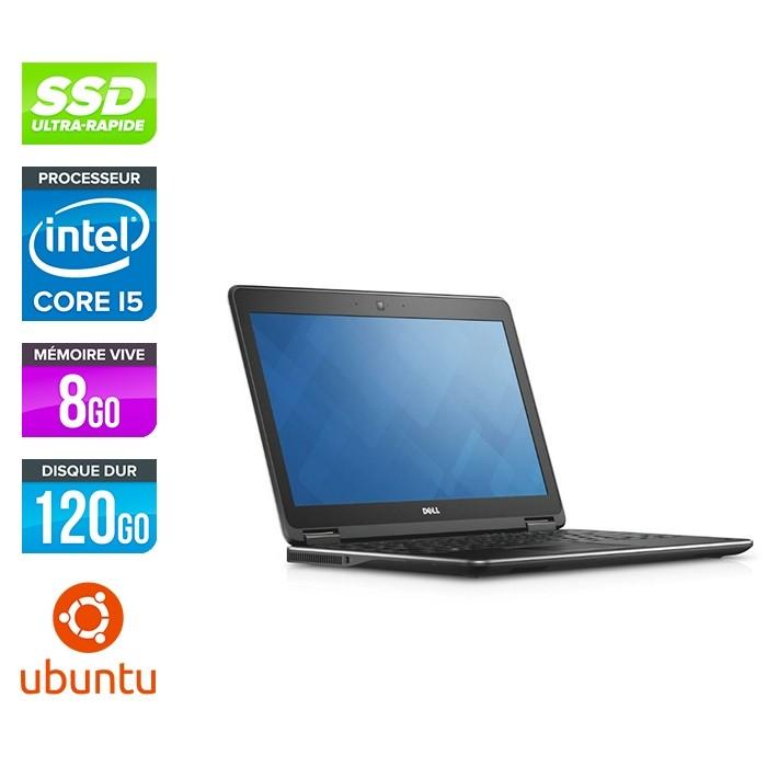 Dell Latitude E7250 - i5 - 8Go - 120Go SSD - Ubuntu - linux