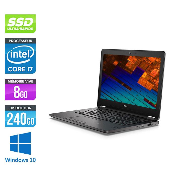 Dell Latitude E7270 - i7 - 8Go - 240Go SSD - Windows 10