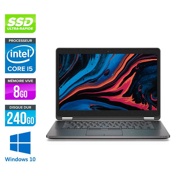Dell E7470 - Core i5 - 8 Go - 240Go SSD - Windows 10