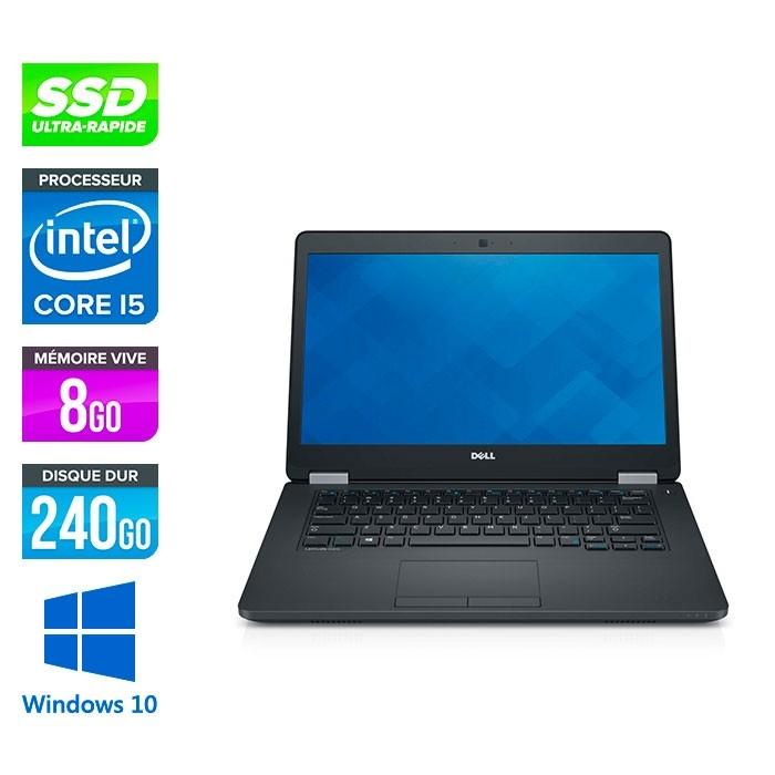 Pc portable reconditionné - Dell Latitude E5470 - i5 6300U - 8Go DDR4 - 240 Go SSD - Windows 10